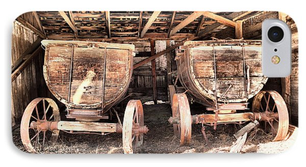 IPhone Case featuring the photograph Two Old Wagons by Jeff Swan