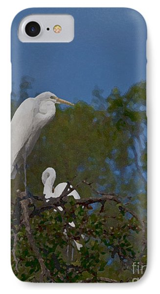 IPhone Case featuring the photograph Two On A Perch by Ken Frischkorn