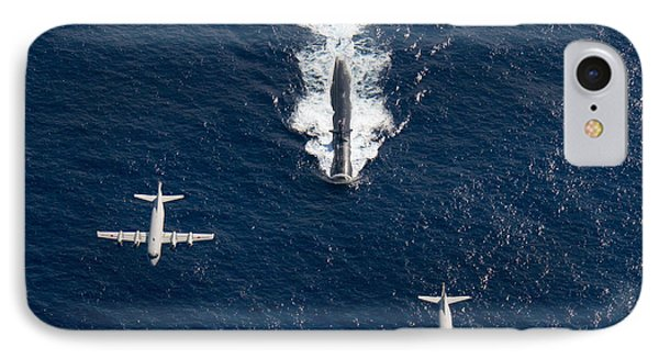 Two P-3 Orion Maritime Surveillance IPhone Case by Stocktrek Images