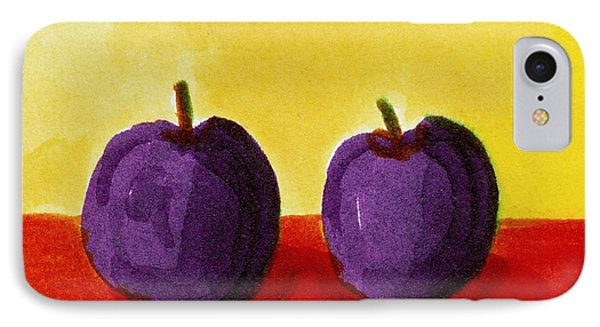 Two Plums IPhone Case by Michelle Calkins