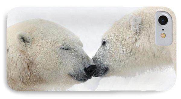 Two Polar Bears Ursus Maritimus Phone Case by Richard Wear