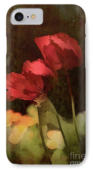 Two Poppies IPhone Case by Elaine Teague