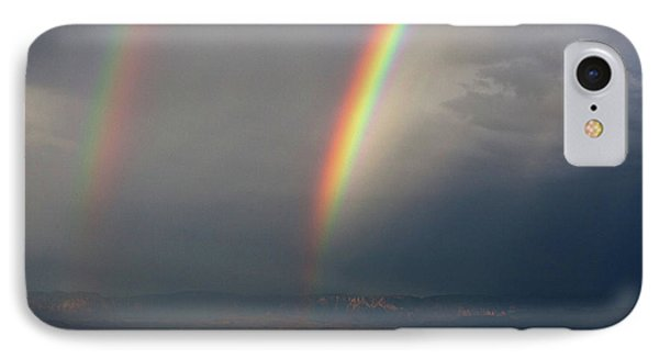IPhone Case featuring the photograph Two Rainbows by Ron Chilston