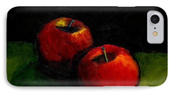 Two Red Apples Still Life Phone Case by Michelle Calkins