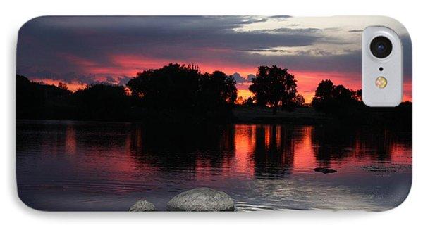Two Rocks Sunset In Prosser IPhone Case by Carol Groenen