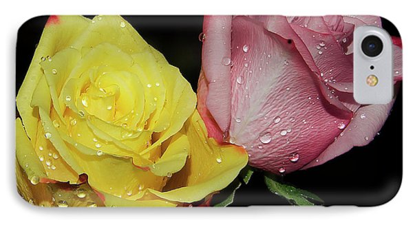 IPhone Case featuring the photograph Two Roses by Elvira Ladocki