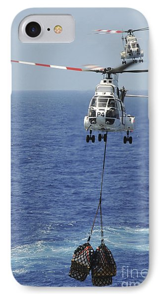 Two Sa-330 Puma Helicopters Deliver Phone Case by Stocktrek Images