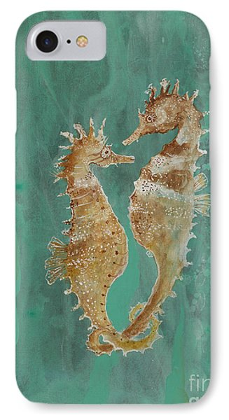 Two Seahorse Lovers IPhone Case by Robin Maria Pedrero