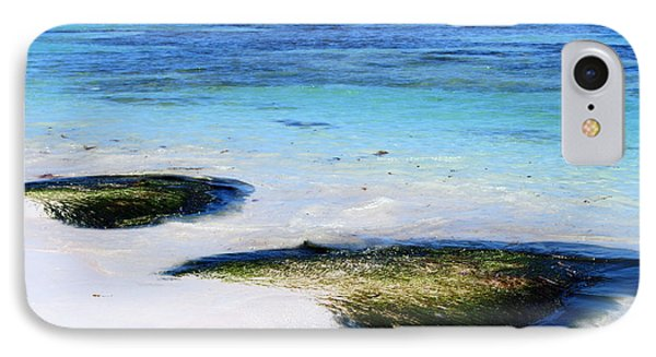Two Seaweed Mounds On Punta Cana Resort Beach IPhone Case