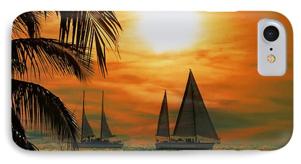 Two Ships Passing In The Night IPhone Case