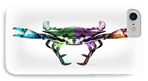 Two Sides - Duality Crab Art Phone Case by Sharon Cummings