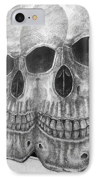 IPhone Case featuring the photograph Two Skulls ... by Juergen Weiss