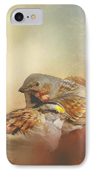 Sparrows In The Marsh 2 IPhone Case