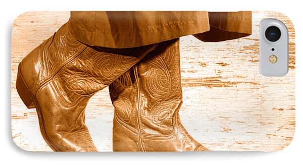 Two Step - Sepia IPhone Case by Olivier Le Queinec
