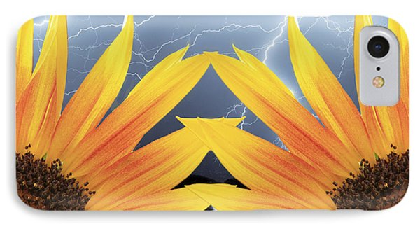 Two Sunflower Lightning Storm Phone Case by James BO  Insogna