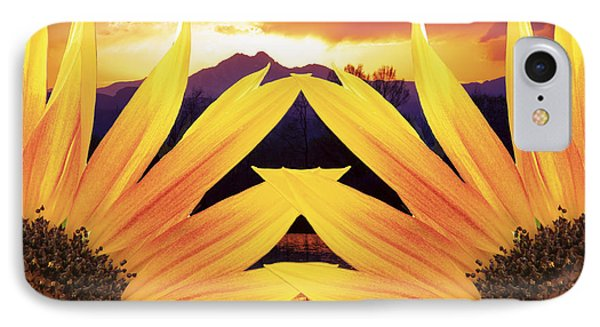 Two Sunflower Sunset IPhone Case