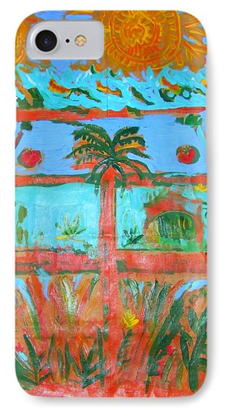 IPhone Case featuring the painting Two Suns Today by Angela Annas