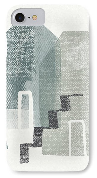 Two Tall Houses- Art By Linda Woods IPhone Case by Linda Woods