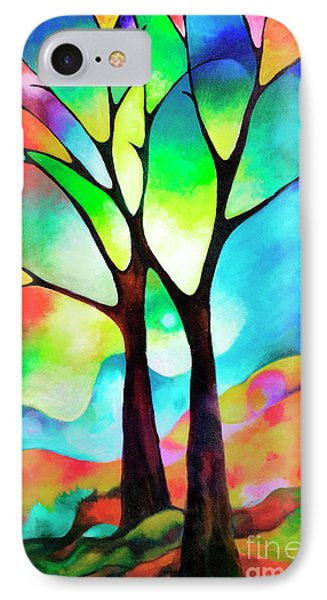 Two Trees IPhone Case by Sally Trace