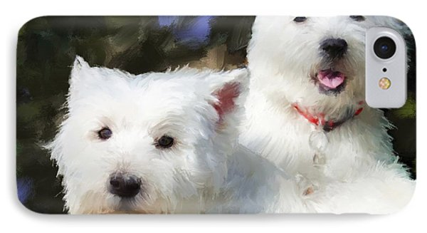Two Westies IPhone Case