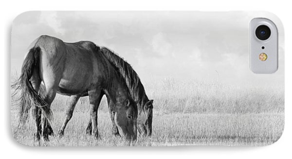 Two Wild Mustangs IPhone Case by Bob Decker