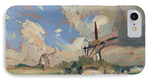 Two Windmills IPhone Case by Nop Briex