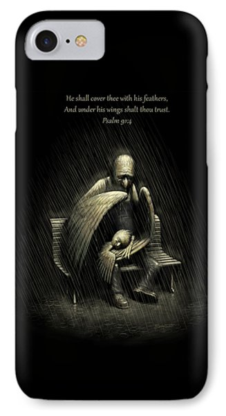 Two Wings And A Prayer - With Psalm 91 IPhone Case