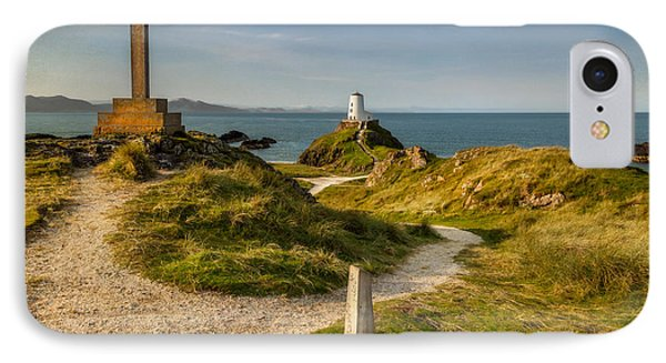Twr Mawr Lighthouse IPhone Case by Adrian Evans