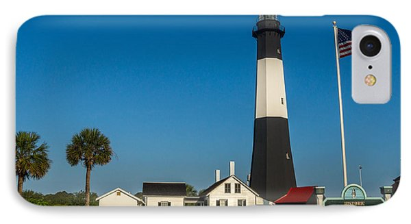 Tybee Island Lighthouse IPhone Case by Michael Sussman