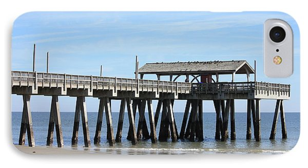 Tybee Island Pier Closeup IPhone Case by Carol Groenen