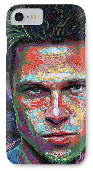 Tyler Durden Lives IPhone Case by Maria Arango