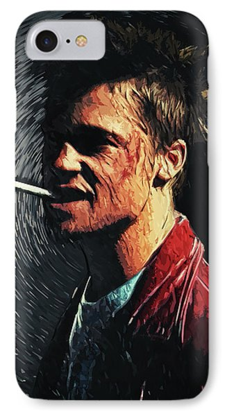 Tyler Durden IPhone Case by Taylan Apukovska