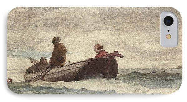Tynemouth Priory IPhone Case by Winslow Homer
