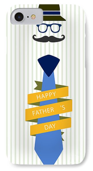 Typography Poster - Happy Father's Day IPhone Case by Celestial Images