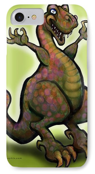 IPhone Case featuring the digital art Tyrannosaurus Rex by Kevin Middleton