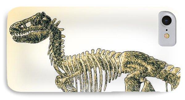 Tyrannosaurus Rex Skeleton IPhone Case by Bob Orsillo