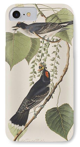 Flycatcher iPhone 7 Case - Tyrant Fly Catcher by John James Audubon