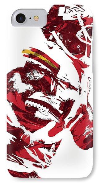IPhone Case featuring the mixed media Tyreek Hill Kansas City Chiefs Pixel Art 1 by Joe Hamilton