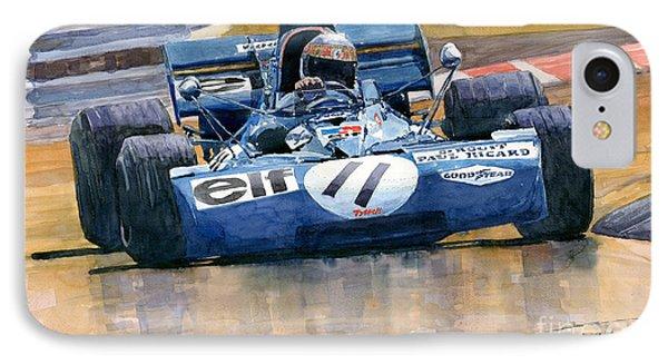 Tyrrell Ford 003 Jackie Stewart 1971 French Gp IPhone Case by Yuriy  Shevchuk