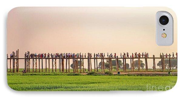 Burmese Python iPhone 7 Case - U Bein Bridge by Delphimages Photo Creations