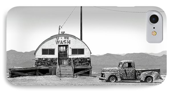 IPhone Case featuring the photograph U - We Wash - Death Valley by Mike McGlothlen