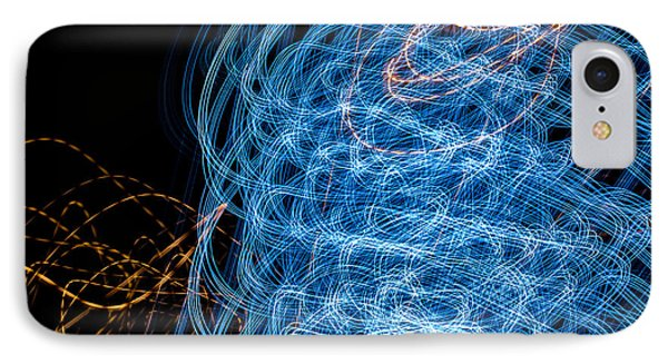 Ufa Neon Abstract Light Painting Sodium #7 IPhone Case