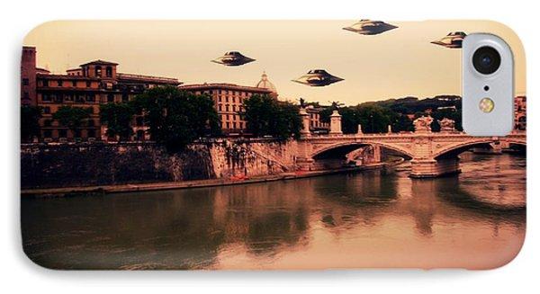Ufo Rome IPhone Case by Raphael Terra