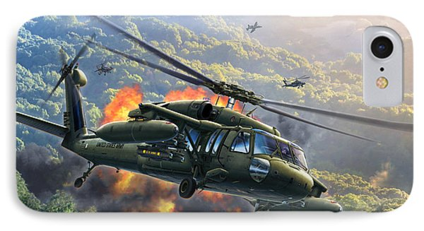 Helicopter iPhone 7 Case - Uh-60 Blackhawk by Stu Shepherd