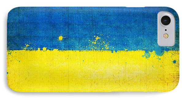 Ukraine Flag IPhone Case by Setsiri Silapasuwanchai