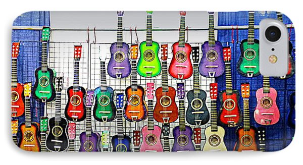 IPhone Case featuring the photograph Ukuleles At The Fair by Lori Seaman