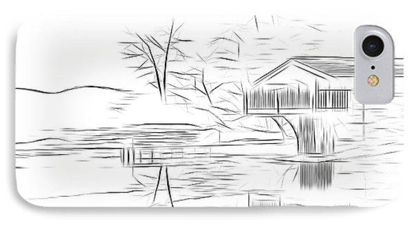 Ullswater Digital Art IPhone Case by Nichola Denny