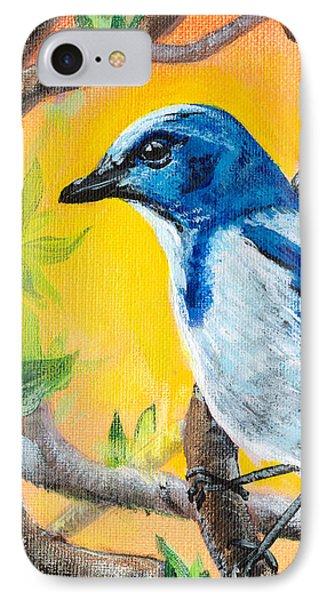 Ultramarine Flycatcher Bird By Gretchen Smith IPhone Case by Gretchen  Smith