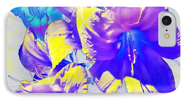 IPhone Case featuring the photograph Ultraviolet Daylilies by Shawna Rowe