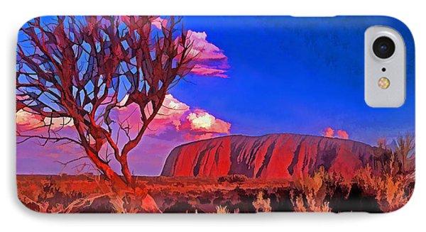 Uluru Phone Case by Dennis Cox WorldViews
